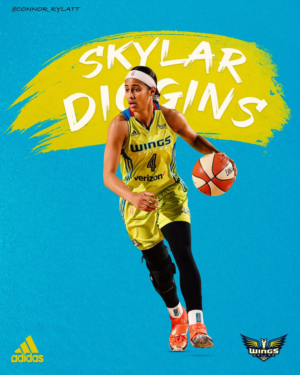 @DallasWings Guard @SkyDigg4 has become one of the best players in the @WNBA after being selected 3rd overall out of @ndwbb in 2013. #WNBA #DallasWings #SMSports #SportsDesign