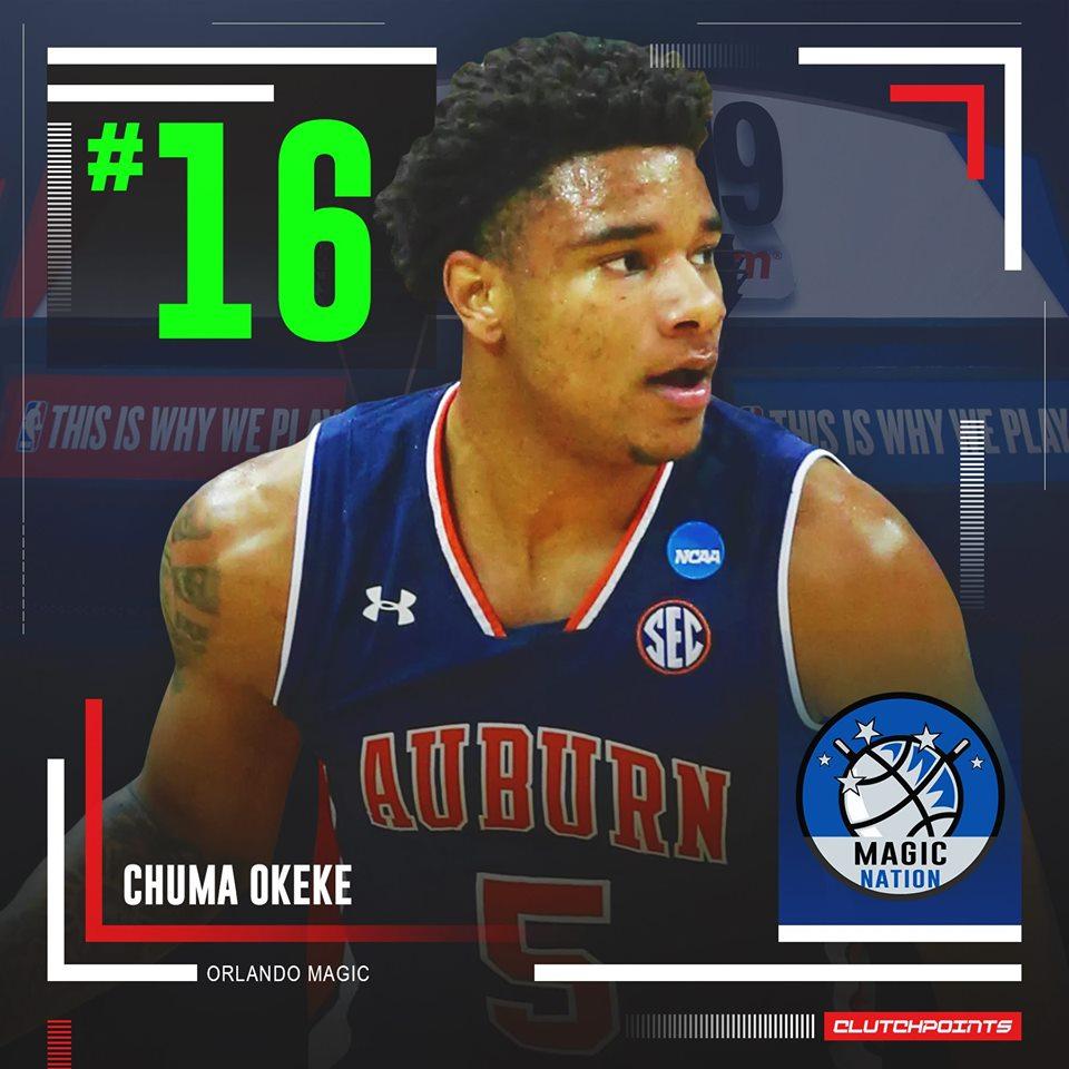 #Magic take Chuma Okeke with the 16th overall pick in the 2019 NBA Draft. #PureMagic