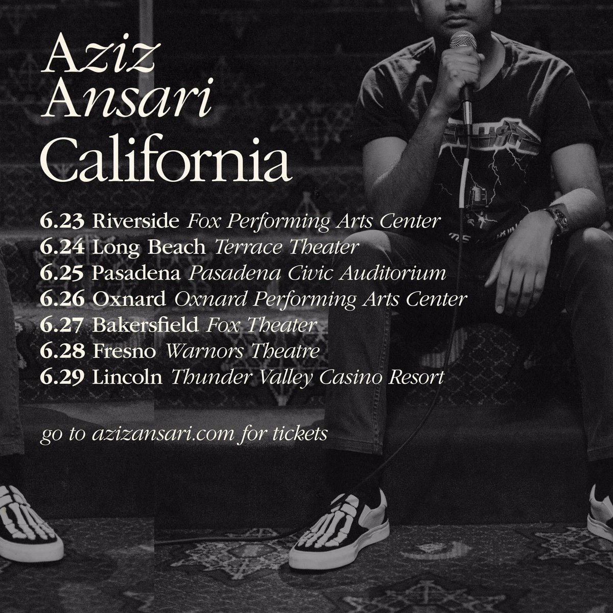 CALIFORNIA: Back for shows in Oxnard, Bakersfield, Fresno and more next week. Limited tix avail at