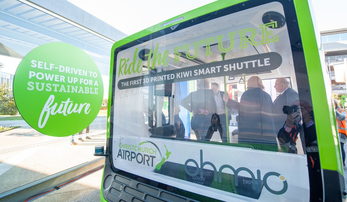 #ClimateLeadersCoalition signatory @CHC_Airport has today debuted NZs first autonomous shuttle!