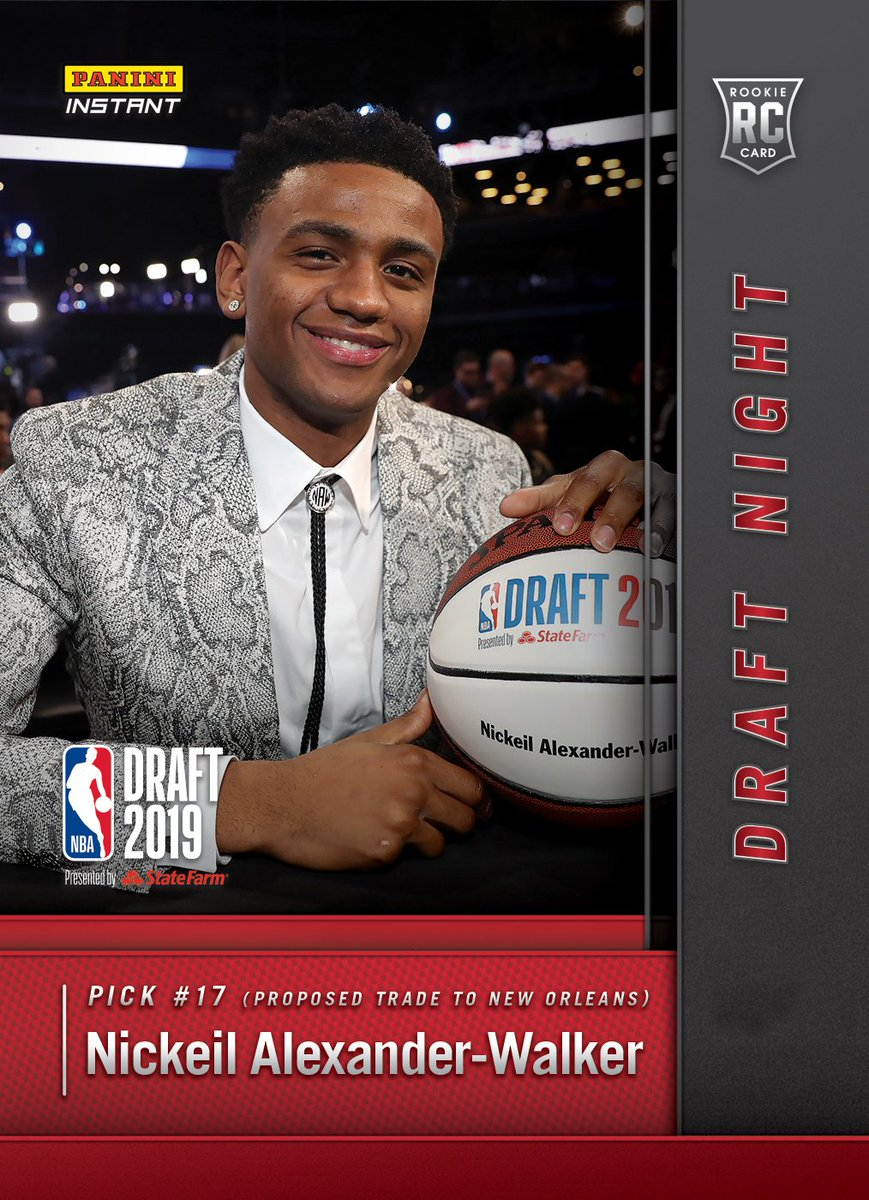 What an incredible night 🙏. Ready to take it to the next level. Go check out my first #PaniniInstant @NBA card now! #WhoDoYouCollect #NBADraft https://t.co/i5YKt53A2w https://t.co/lvcWvycHf9