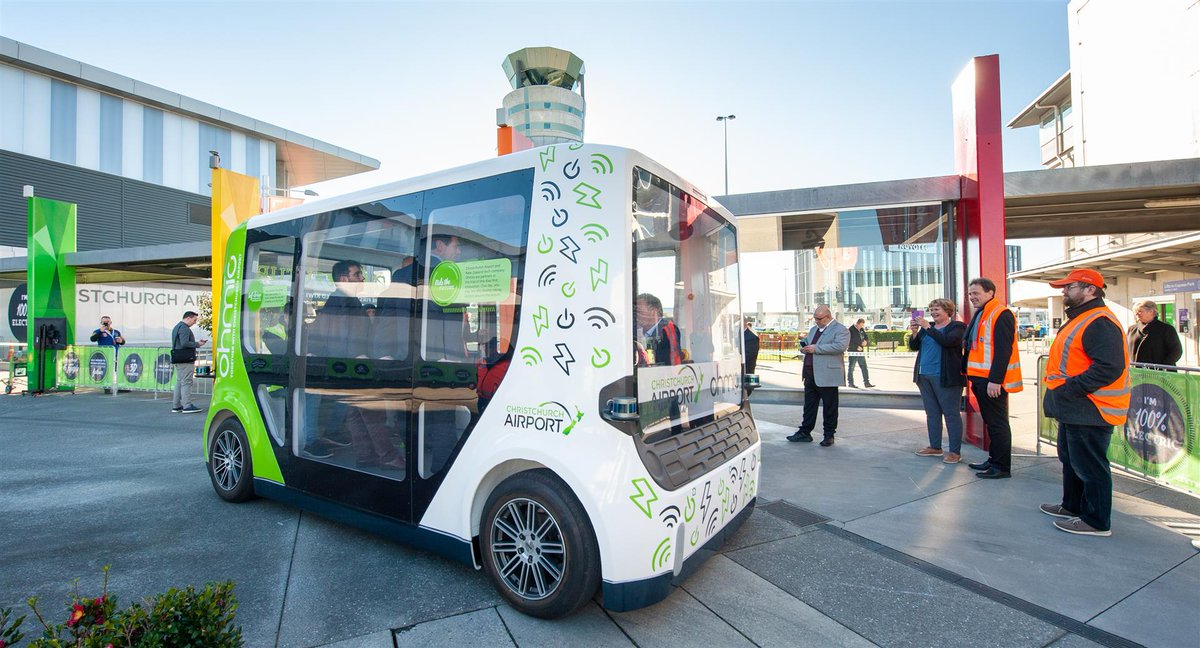 NZs first Smart Shuttle has arrived at the airport! This Kiwi Smart Shuttle has been changed up a gear by our trial partner @OhmioAutomotion and is autonomous, electric and also 3D printed! Find out more: christchurchairport.co.nz/ohmio #ridethefuture