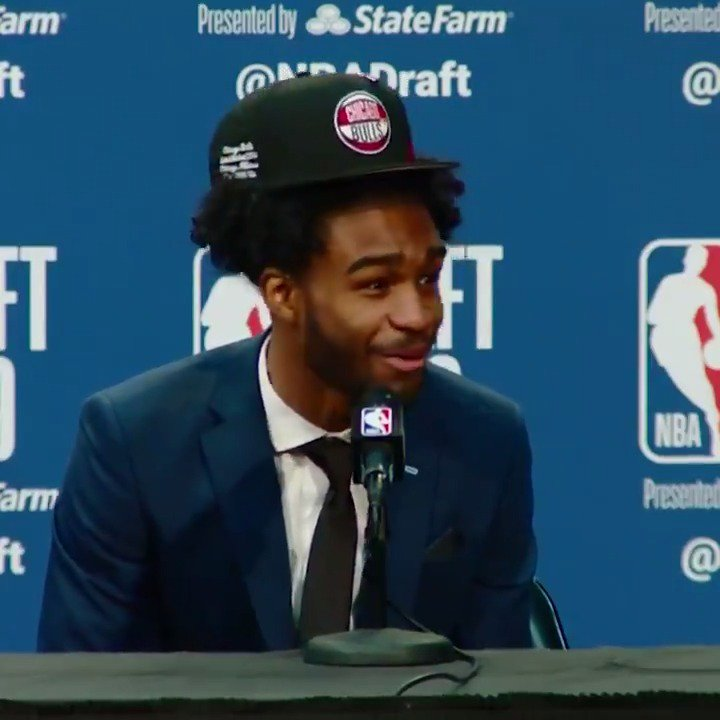 Coby White had the best reaction to finding out his UNC teammate Cam Johnson got selected No. 11. 🙌   (via @NBATV)