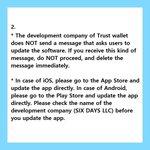 Image for the Tweet beginning: 📌 Notice for Trust Wallet  #tos