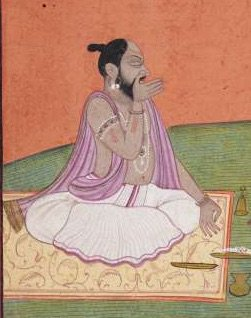 In honour of #InternationalDayofYoga We are sharing some images of paintings of ascetics and rishis from our collection. (Detail from acc no. 771) #InternationalYogaDay #YogaDay2019