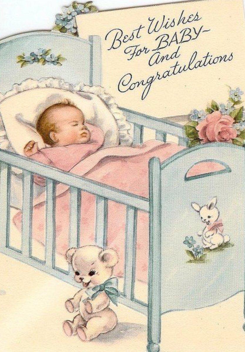 Старые открытки с новорожденными