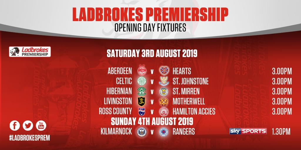 Scottish Premiership fixtures announced for 2019/20