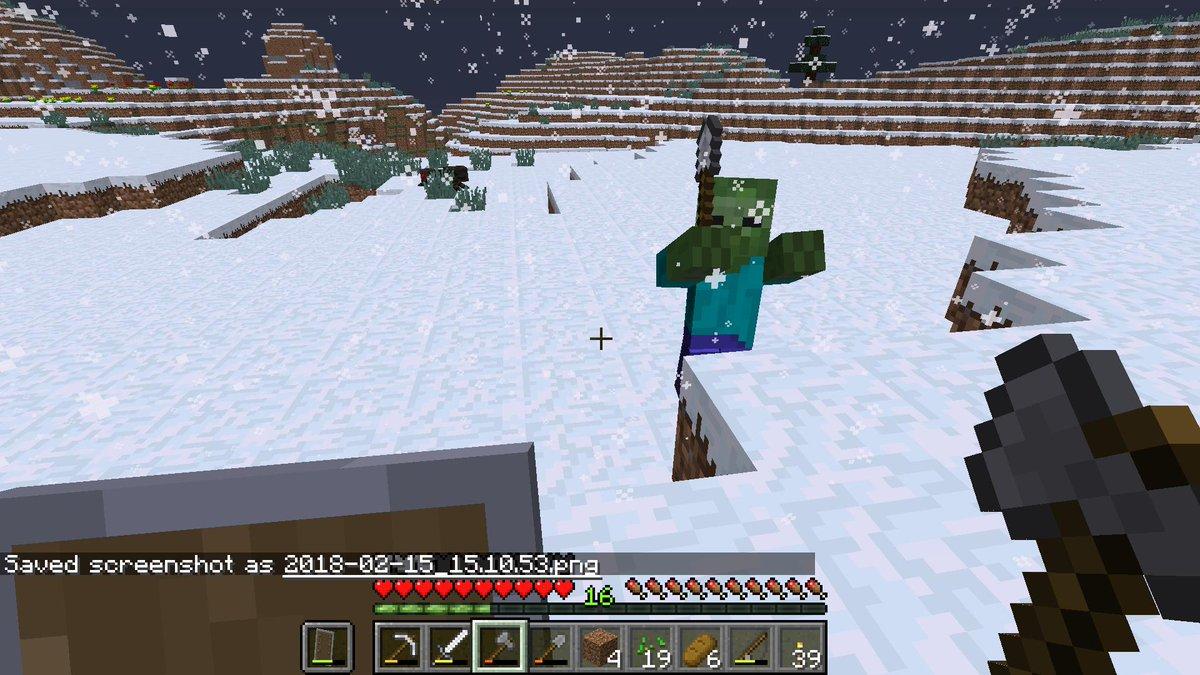 как делать в майнкрафт снег #11