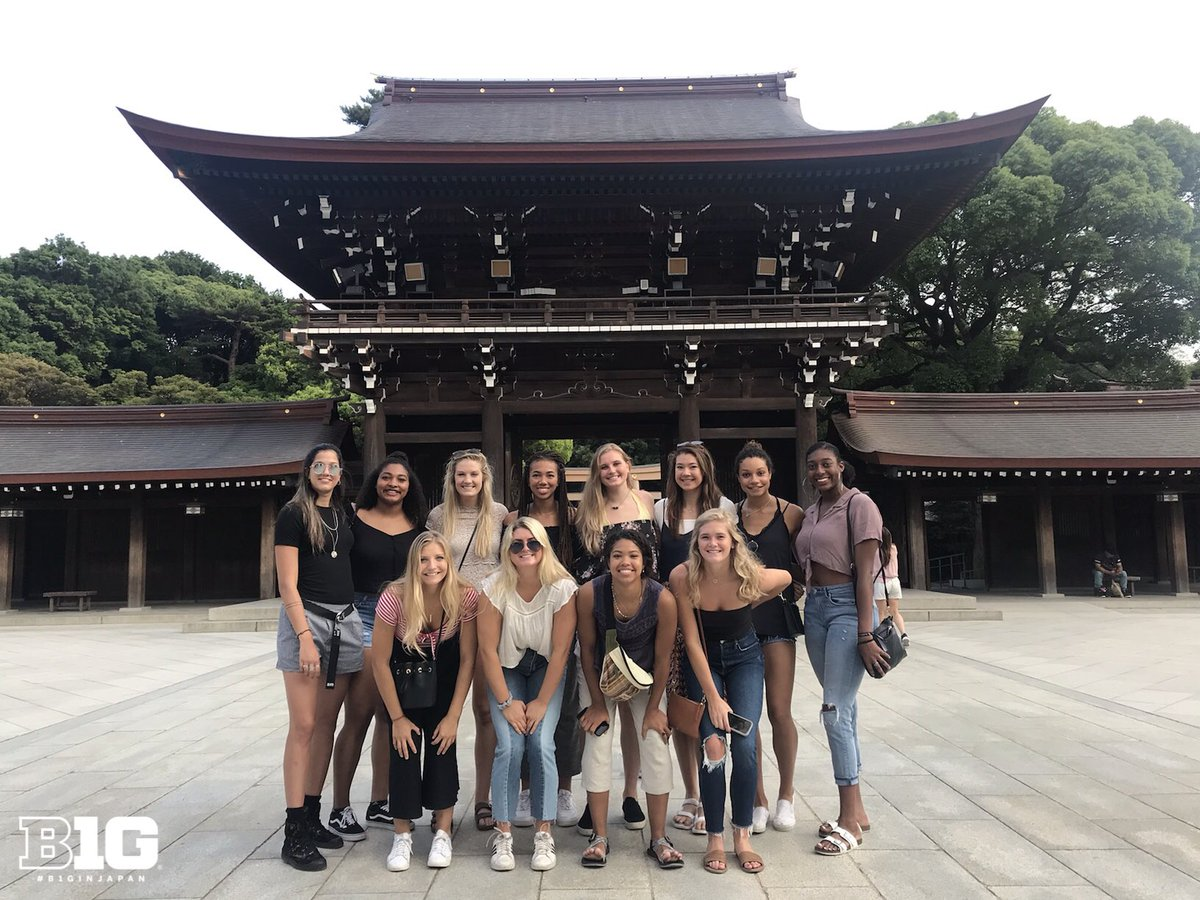 #B1GinJapan learning more about the Meiji Shrine on the first day in Tokyo. #B1GVolleyball