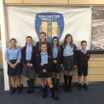 Some of our Year 6 School Councillors reps at the Rotary Club conference in Colchester!