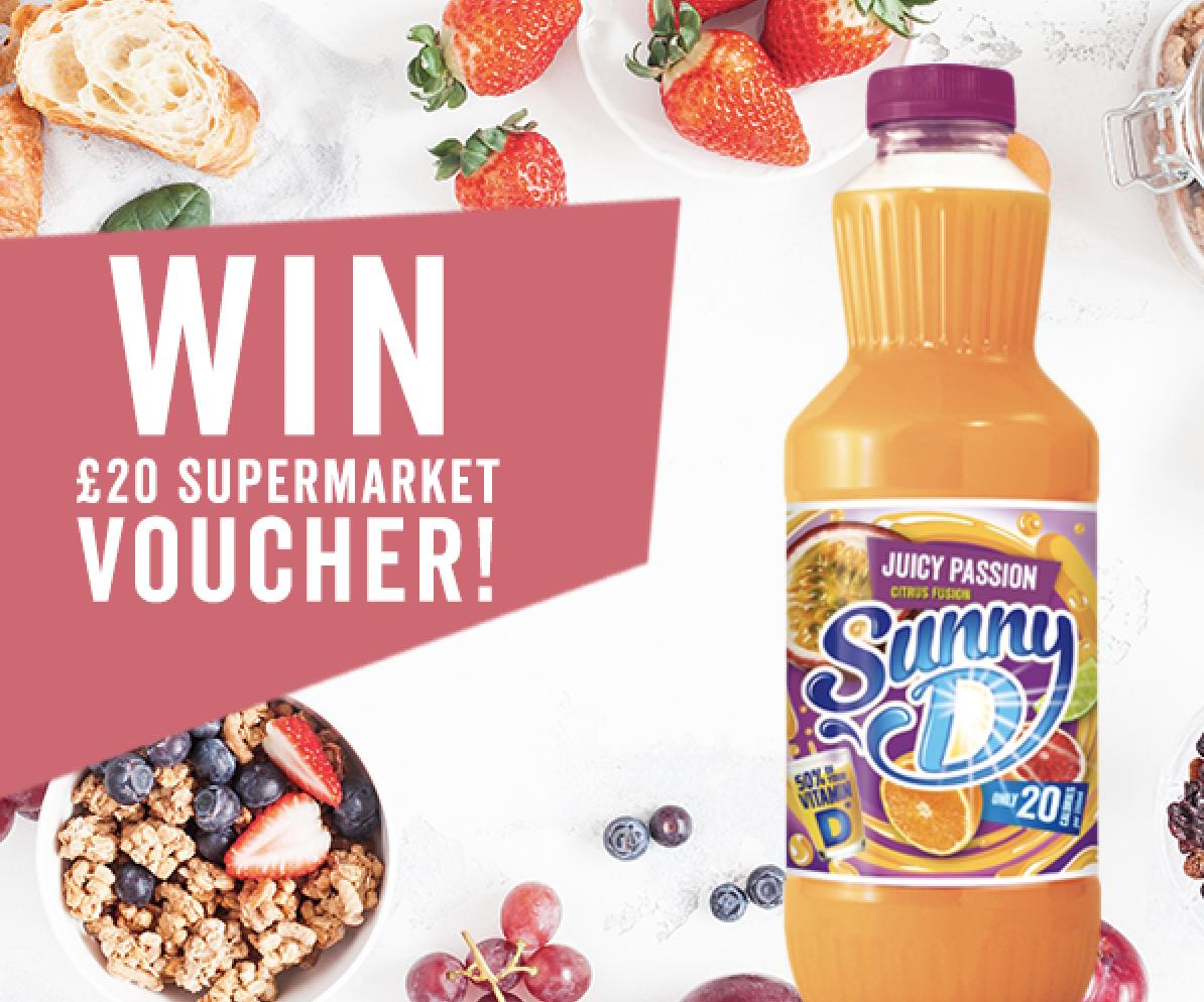 Follow, Retweet & Reply for the chance to Win a £20 Supermarket Voucher!  Sunny D deserves to be enjoyed with tasty delights, which is why we're giving away a £20 supermarket voucher, so you can stock up on your faves! Ends 9am 28/06, UK Entrants Only, T&Cs Apply #FreebieFriday <br>http://pic.twitter.com/ZcnIhgMt1m