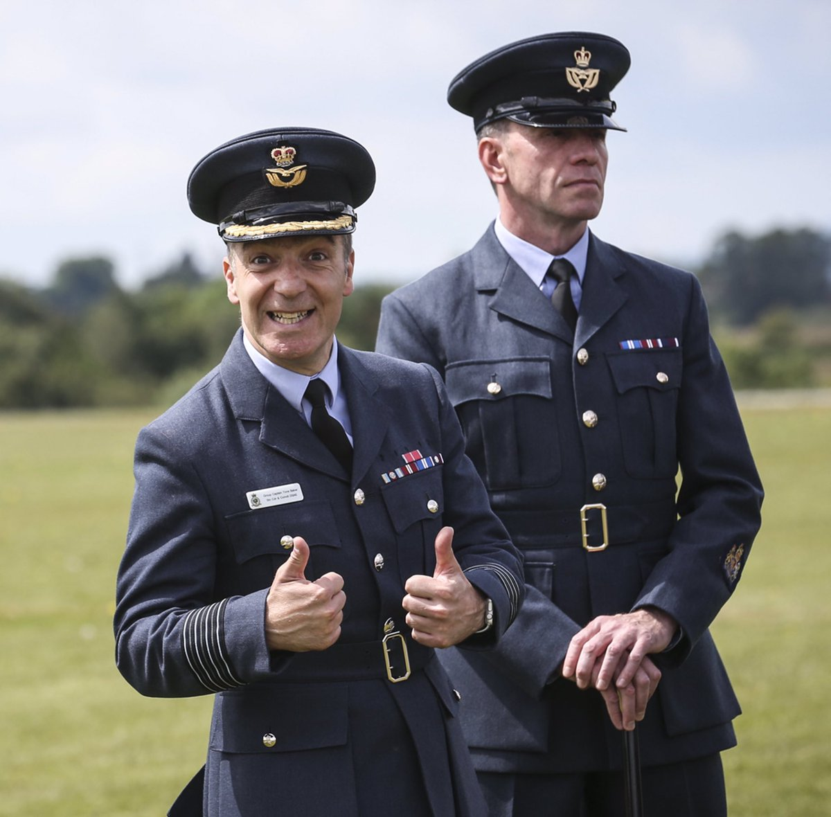 When your Station Commander and your Station Warrant Officer are side by side wearing these expressions you know that there is balance and harmony in the world. Everything is as it should be. @RoyalAirForce @StnCdrCosford
