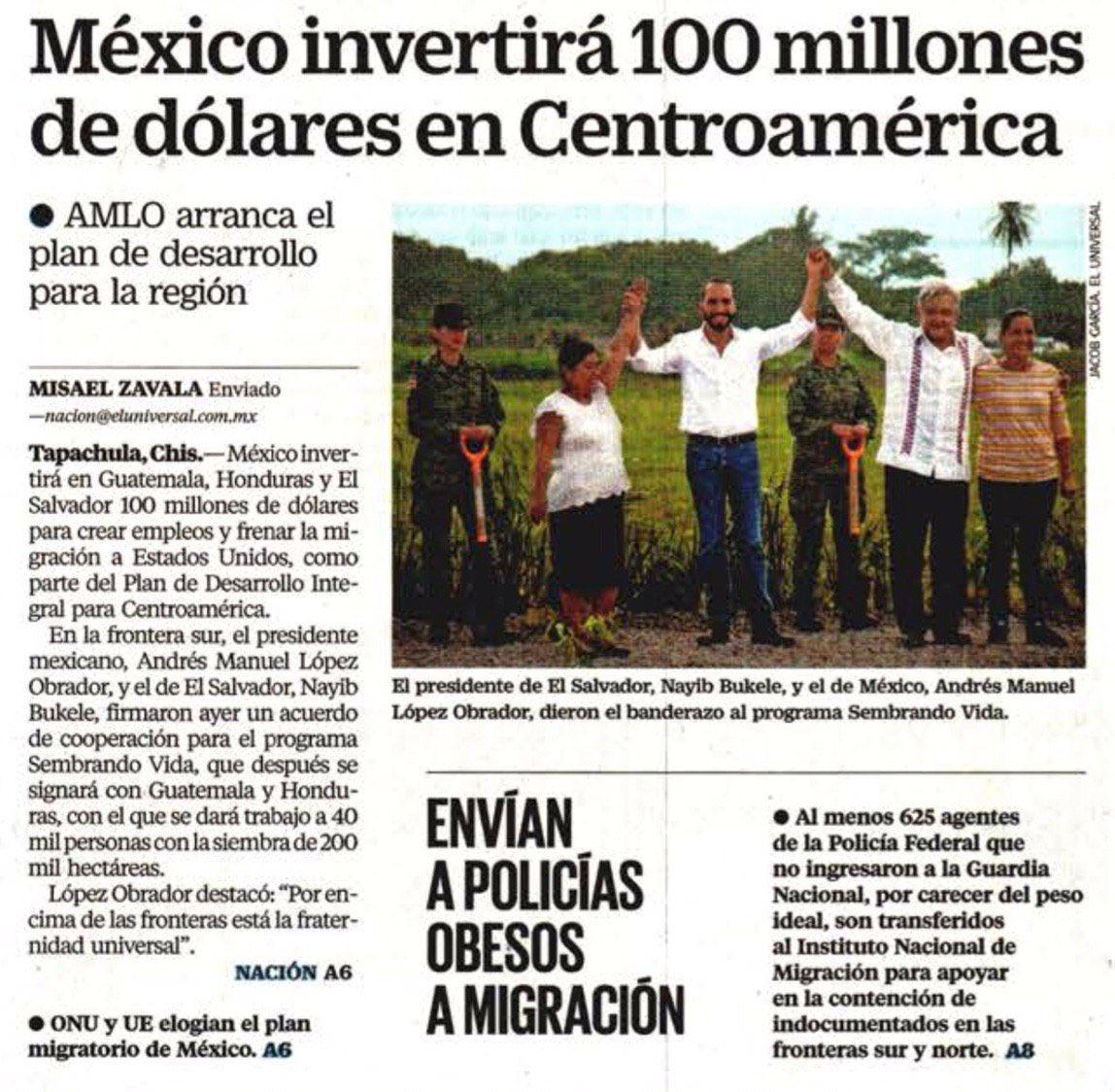 El empleo a la baja y la violencia a la alza, pero @lopezobrador_ regala millones de dólares a países de Centroamérica. Cooperación sí, pero primero atender las urgentes necesidades en México, como la seguridad o la salud.