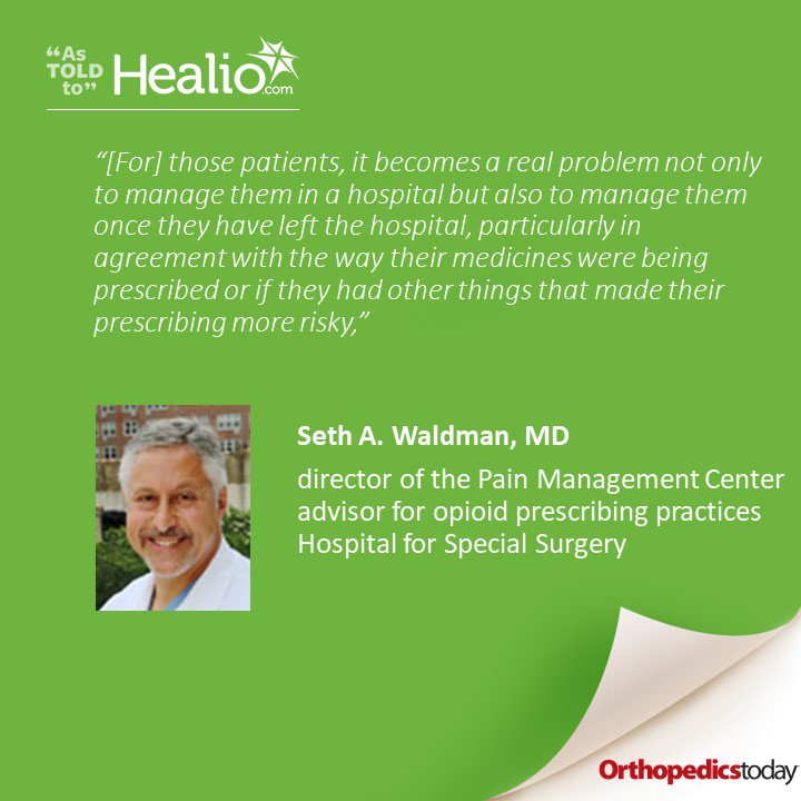 Preoperative protocol at @HSpecialSurgery aims to identify patients at risk for difficult pain management https://www.healio.com/orthopedics/business-of-orthopedics/news/online/%7Bed924714-b35a-48f8-a9fc-3acea2e3efb7%7D/preoperative-protocol-at-hss-aims-to-identify-patients-at-risk-for-difficult-pain-management?utm_medium=social&utm_source=twitter&utm_campaign=sociallinks…  Read comments from Seth A. Waldman, MD