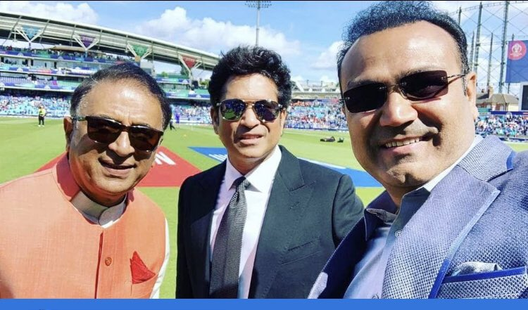THE LEGENDS OF INDIA AS WELL AS WORLD CRICKET!!!Their names on the pages of cricket history, will always be immortal...जय हिंद 🇮🇳🇮🇳🇮🇳The little Master & Master blaster @sachin_rt Tendulkar 2.0 @virendersehwag The real little master #SunilGavaskar