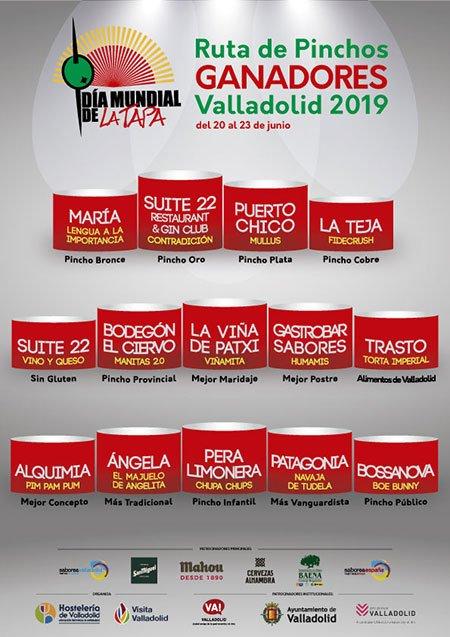 🔴 De 20 al 23 de junio con motivo de la celebración del #DíaMundialDeLaTapa, @Apehva ha organizado la Ruta de pinchos ganadores en #Valladolid 👉 Podrás disfrutar de los Pinchos Premiados en el XXI Concurso Provincial de Pinchos de Valladolid 👉 diamundialdelatapa.es/dmt-valladolid…