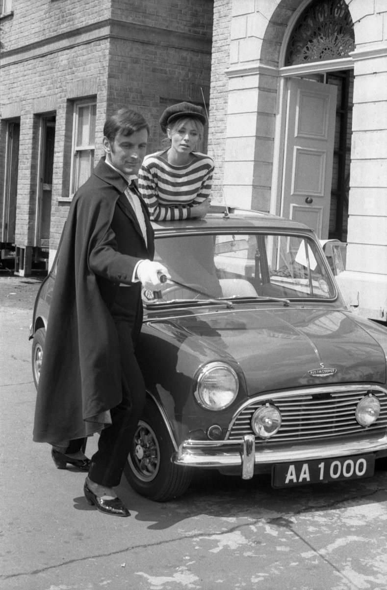 #OnThisDay 1966: Adam Llewellyn De Vere Adamant - frozen since 1902 - thawed out. The first episode of Adam Adamant Lives! brought a spot of swashbuckling style to the swinging sixties.   Pictured are Gerald Harper as Adam Adamant and Juliet Harmer as Georgina.