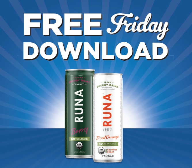 End the week with the same energy you started with. Grab your digital coupon and get a FREE Runa Clean Energy Drink. Download today by 11:59 pm and redeem within 2 weeks. http://spr.ly/6017EqScc