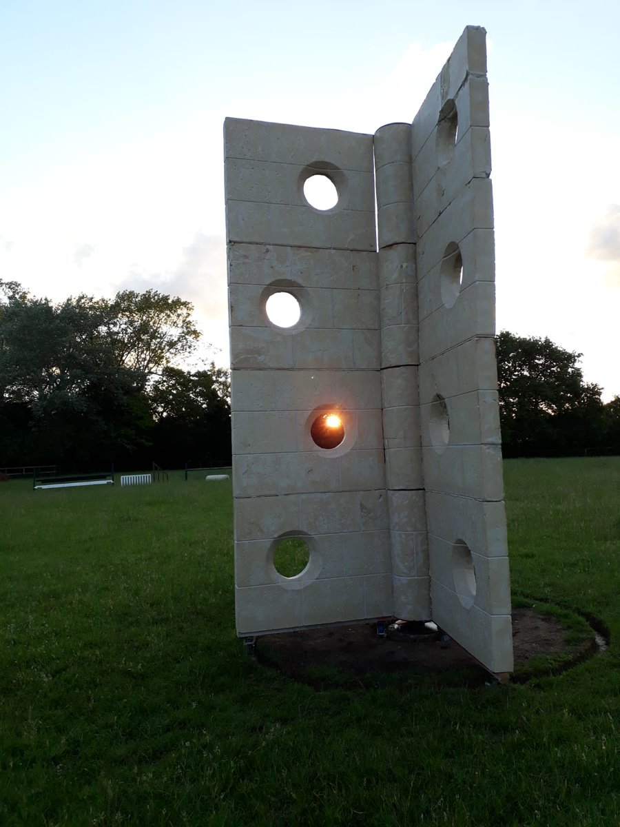My pal Neil Bailey has built a massive stone hinge, for no other reason than he is brilliant.
