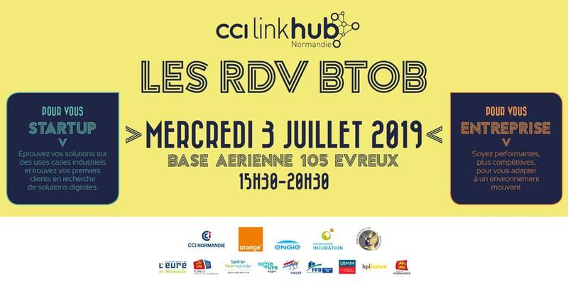 [Free Event] #Startups, participez aux RDV BtoB CCI Linkhub : 3 juillet @105Evreux Cc @CCIPDN @cciseinestuaire Infos : https://t.co/AyfV6bSxMO https://t.co/tkKEzyBASH