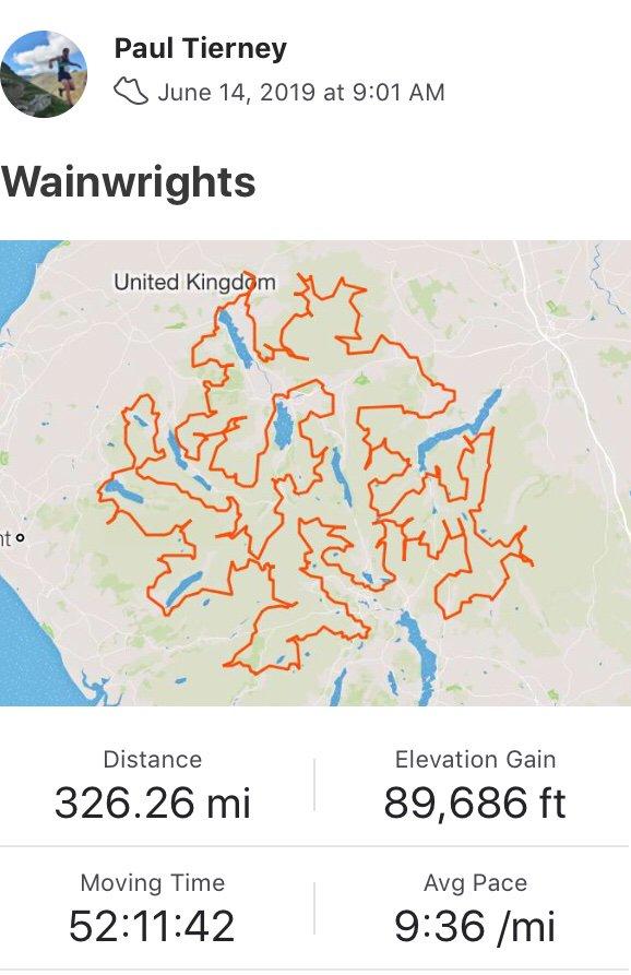 How to win Strava. @paulmissinglink @stravawankers #wainwrights214