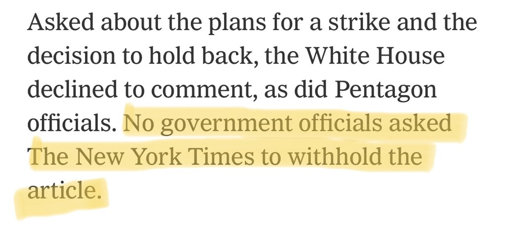 """News of the """"almost"""" strike on #Iran makes me believe that Trump is following Nixon's """"madman theory"""" and never had the intention to strike in the first place.   Aim is to show Trump as erratic and unpredictable.   Note this rather strange line from The NY Times article."""