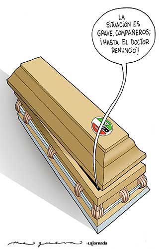 "RT @El_Chamuco: ""El enfermito"".  Cartón de @ahelguera en @lajornadaonline. https://t.co/s7D6fSDm9b"