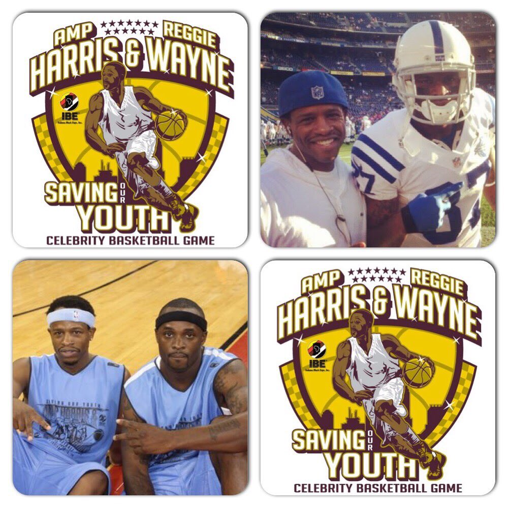 It's that time of year🏀🏀 My bro #Colts legend @ReggieWayne_17 and I get together with some of our celebrity friends like @TYHilton13 and others to have fun for the kids. @JBrissett12 @MalikHooker24 @dsleon45 July 20th 6pm Ind Convention Center #SavingOurYouth #GivingBack #IBE