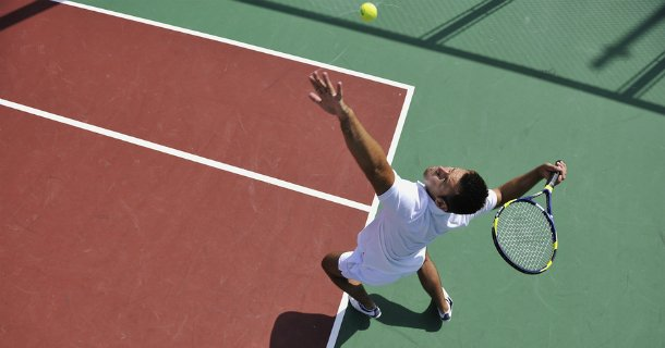 """What is """"Dead Arm Syndrome"""" and how can it affect a #tennis player's performance? Learn more from HSS sports medicine surgeons Drs. David & Joshua Dines: http://ow.ly/qmjk50uH4Nz."""