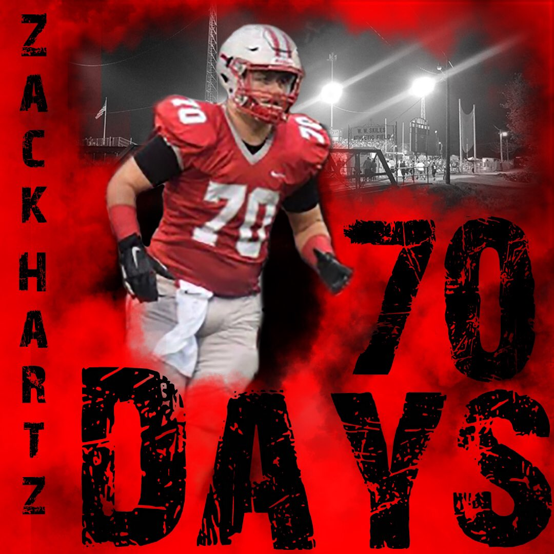 70 days until the Whippets take on the Madison Rams to officially start the 125th season of Shelby Football! #WhippetFb