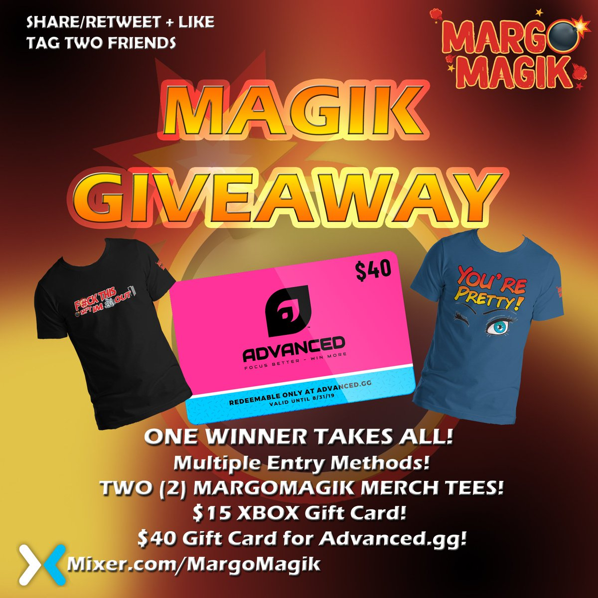 🔥💣GIVEAWAY 💣🔥  Enter my giveaway at   In partnership with @Advanced_GG and @TheMarvelFactor you can get a few sweet T-Shirts and get some DELICIOUS Advancedgg Focus to try for yourself! ♥ Better Hurry though contest closes July 13th!  #giveaway #Hype