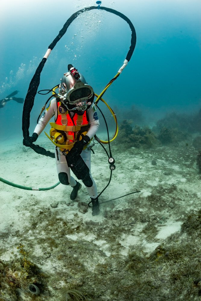 And I will miss walking on the ocean floor like a creature of the ocean! #NEEMO23