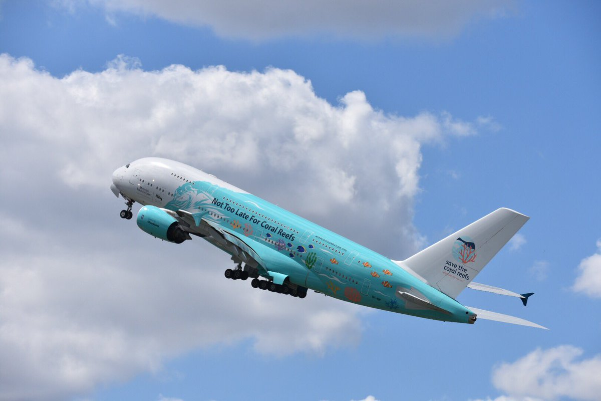 """Quoting @hifly_airline : """"Today Hi Fly #A380 made an appearance at #PAS19, showing its performance capabilities in three jaw dropping flying displays."""" #ParisAirShow #SalonDuBourget #avgeeks #avgeek #aerospace #hifly #hiflyairline #airbus #9HMIP #savethecoralreefs #wemakeitfly  – at Aeroport de Paris - Le Bourget"""