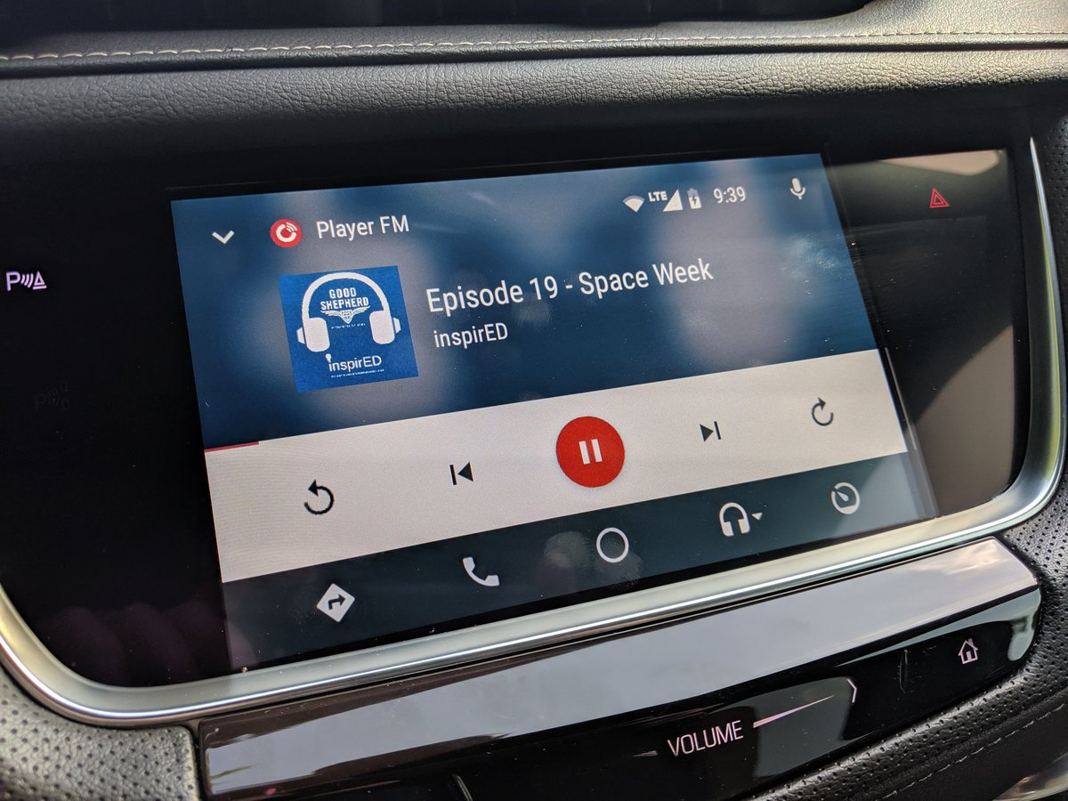 Look @mrsjenkins_edu even my loaner car knows the best #podcast content! #inspirED #gsesdallas