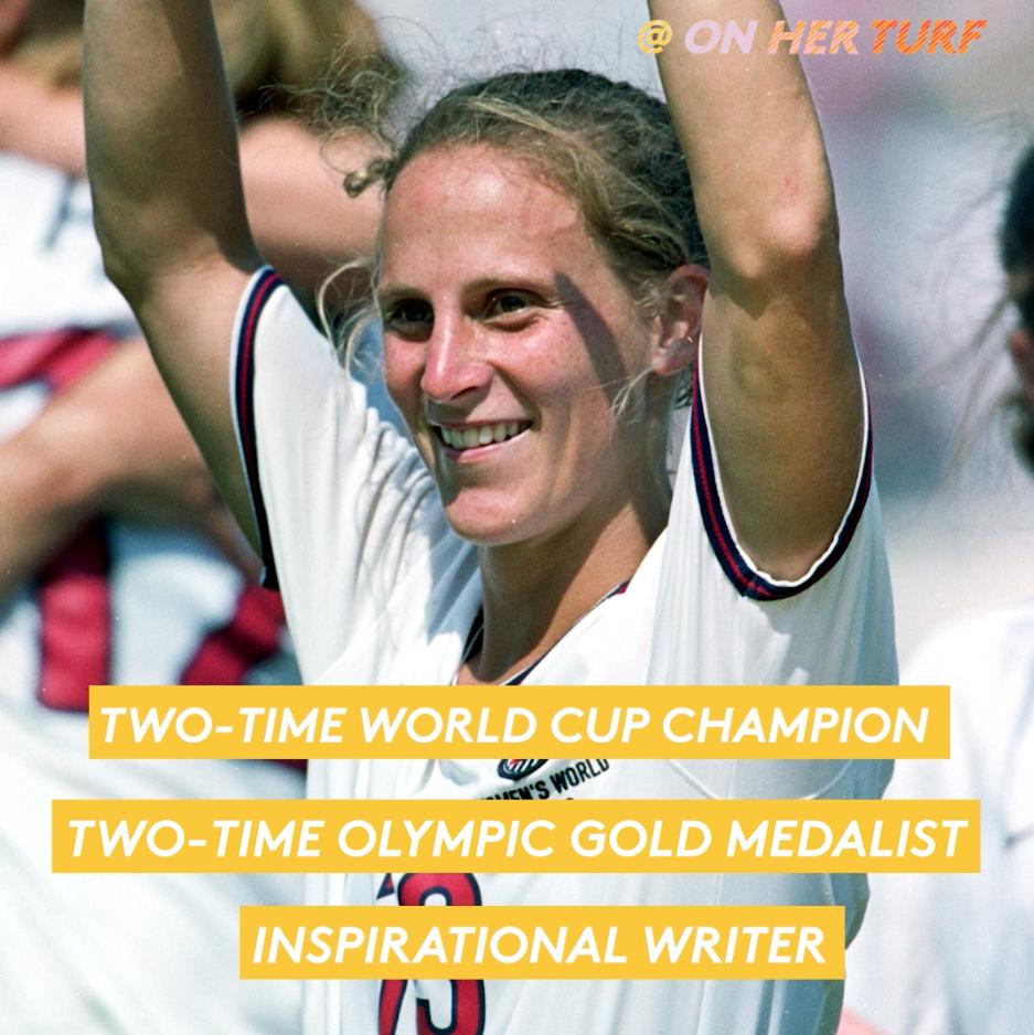 At just 16, @KristineLilly joined the @uswnt.   354 caps, two #FIFAWWC titles and two Olympic golds later, she now travels around the country teaching kids lessons in soccer and how to be a good teammate. #OffThePitch