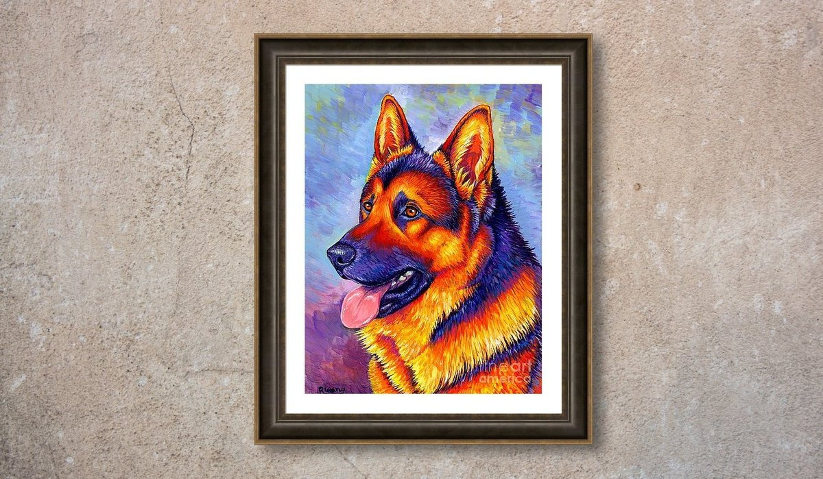 Colorful German Shepherd Dog #artprints and more in my gallery store -  https:// rebecca-wang.pixels.com/featured/color ful-german-shepherd-dog-rebecca-wang.html   …  #germanshepherd #dogs #artwork #artforsale #painting #acrylicpainting #animalart<br>http://pic.twitter.com/nCjjrHfGtz