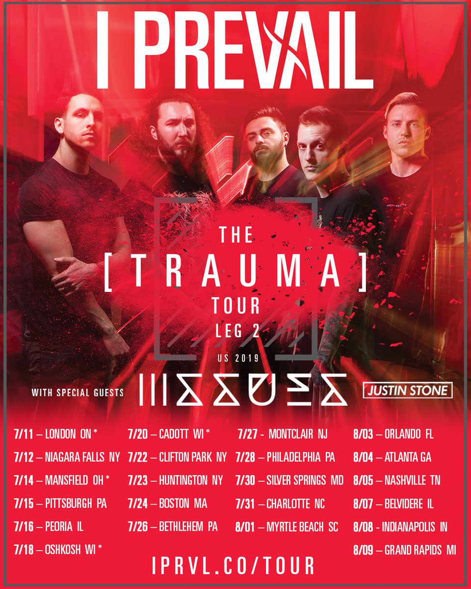 We're picking 2 people who RT this post to win a spot on our guest list to leg 2 of the TRAUMA tour!  Winners announced next Friday. Get your tickets/vip asap!  🎟️ - http://iprvl.co/tour