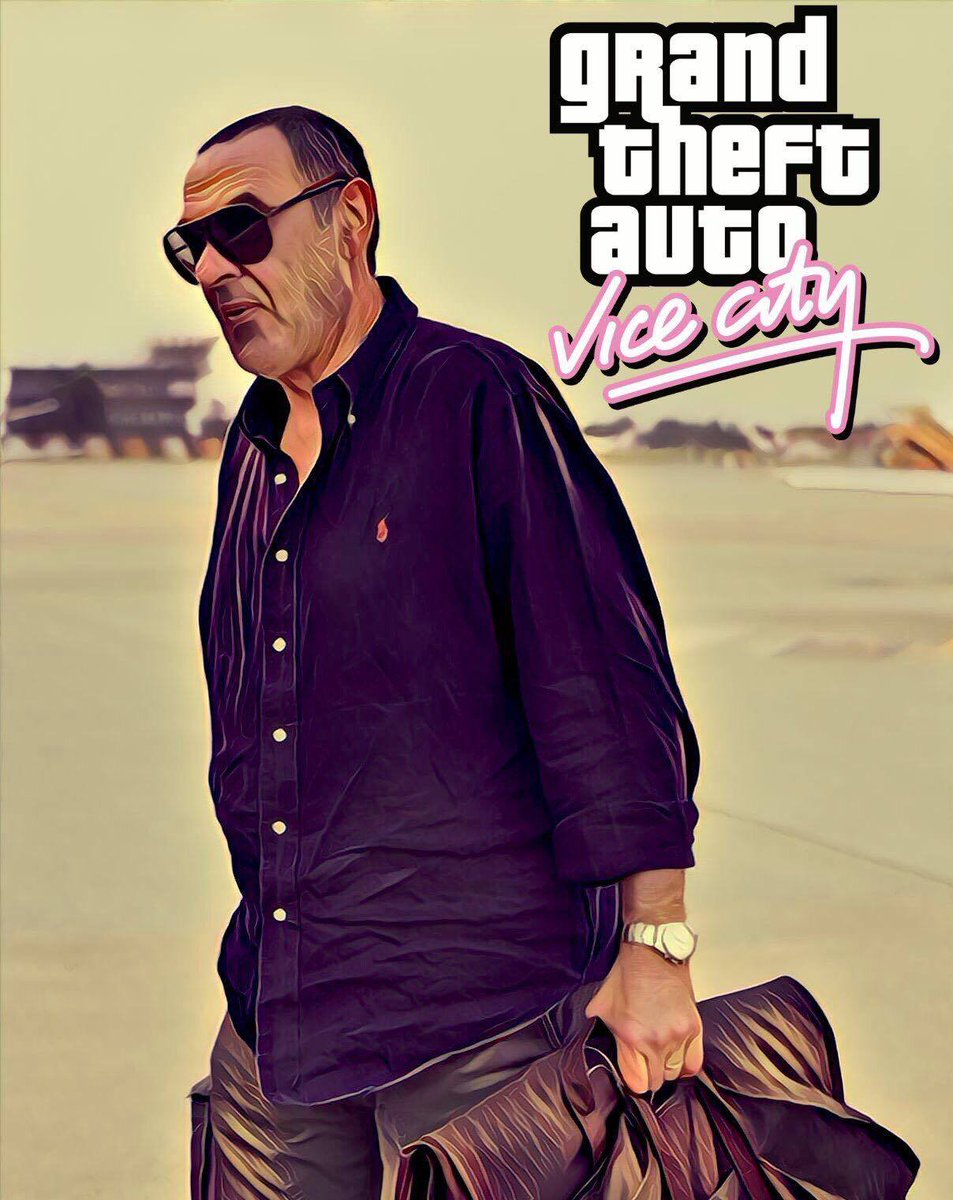 Larrivée de #Sarri à la #Juventus a donné des idées aux fans de football 😂 #GTA