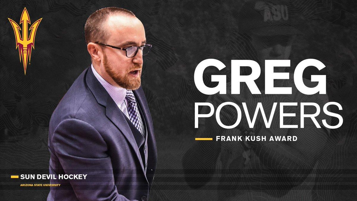 👏@asucoachpowers named the 2018-19 Frank Kush Award winner by fellow Sun Devil coaches.   📰: https://thesundevils.com/news/2019/6/21/general-frank-kush-award-winner-for-2019-is.aspx…