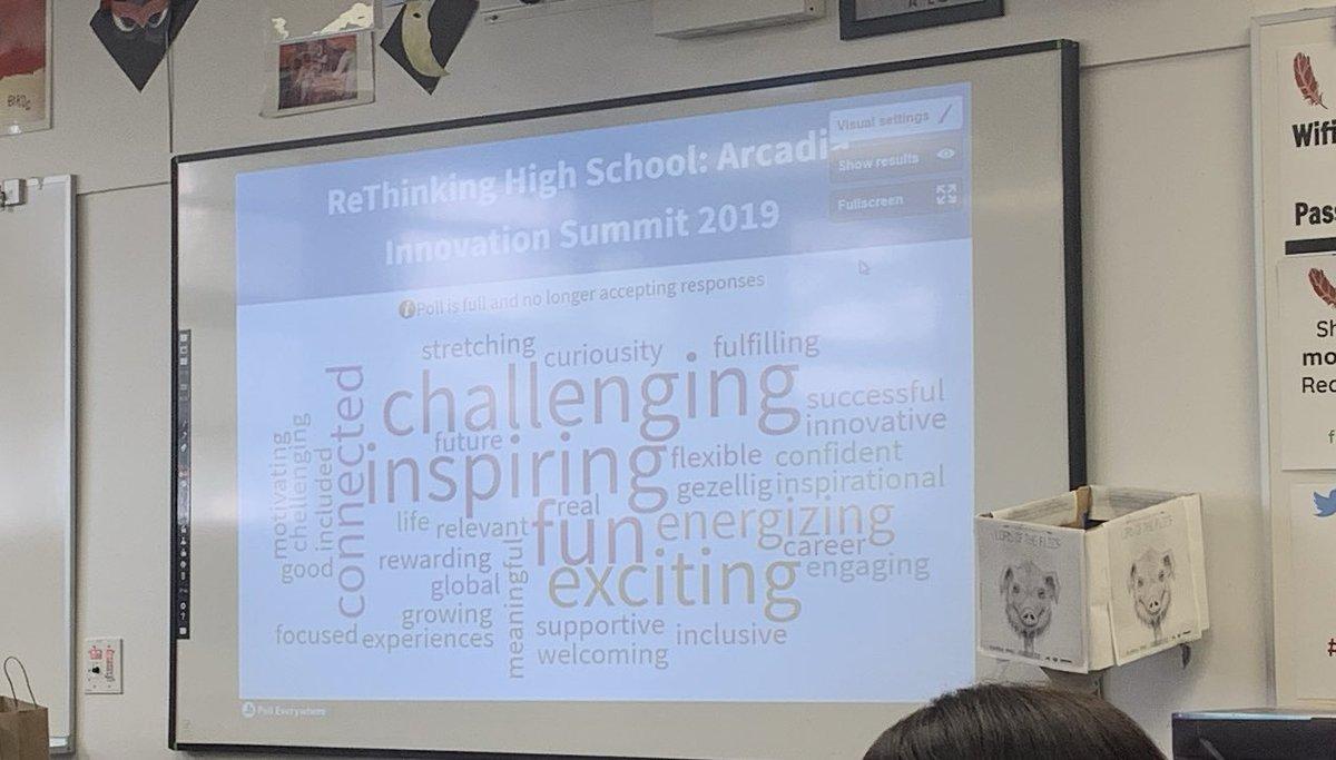 What should it feel like to be in high schools #ArcadiaInnovation @kelseypayne_ed