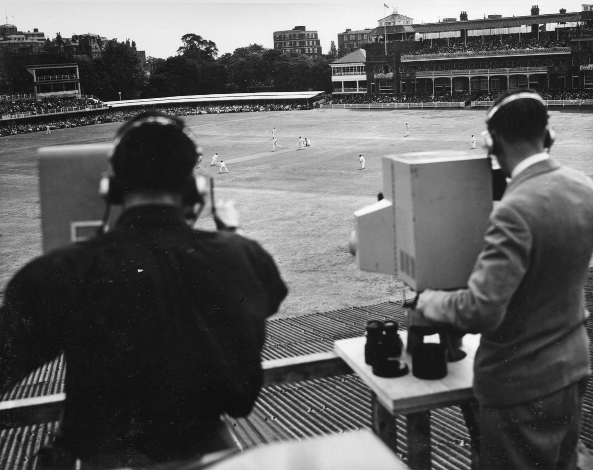 #OnThisDay 1938: BBC Television broadcast live Test coverage for the first time - the second Test between England and Australia from Lords.