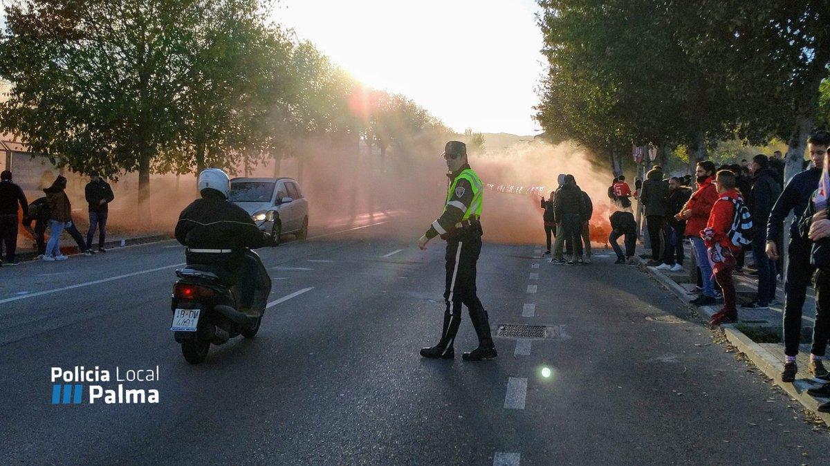 El domingo se cerrará el tráfico en camí dels Reis por el partido del RCD Mallorca
