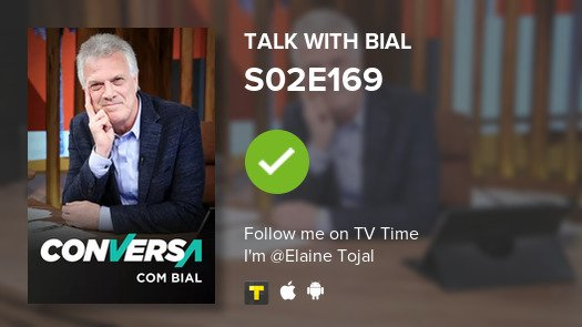 I've just watched episode S02E169 of Talk with Bial! #conversacombial  #tvtime https://tvtime.com/r/14S3r
