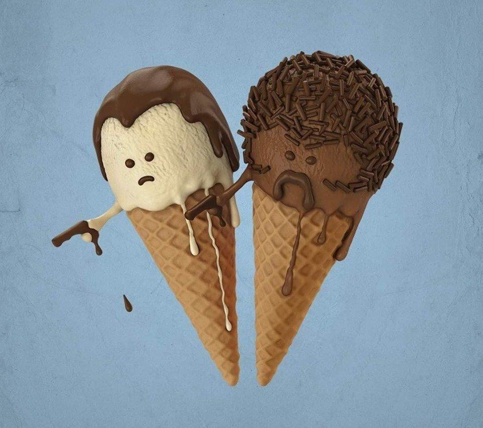 Весной, картинки с мороженым прикольные
