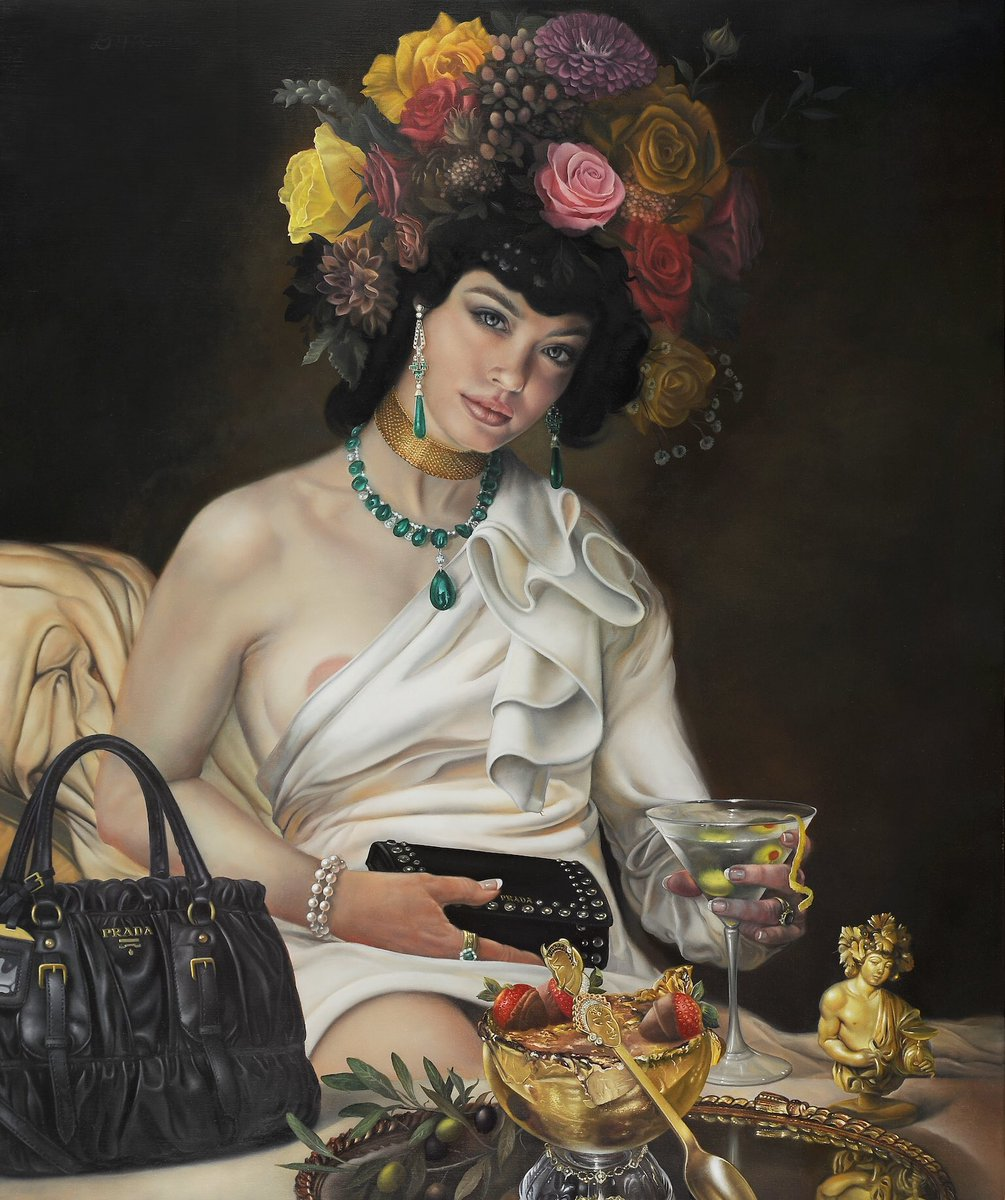 Goddess of Decadence, 20 x 24, oil on linen (for sale) #DavidBowers #Art #Artist #America #Oil #OilPaintings #Linen #Instagram #Twitter • DM or contact bowersartist@gmail.com  https://www.instagram.com/p/By-u9NRnTih/?igshid=6nneg481ikkl…