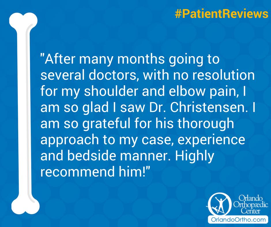 Thank you for taking the time to share your feedback with us. We're thrilled to hear about the success of your visit with Dr. Christensen! #PatientReviews