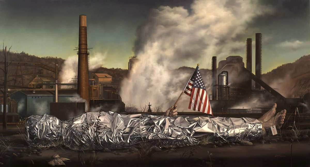 Made in America, 44 3-8 x 24, oil on linen, 2011 (SOLD) #DavidBowers #Art #Artist #America #Oil #OilPaintings #Linen #Instagram #Twitter • DM or contact bowersartist@gmail.com for inquiries  https://www.instagram.com/p/By-xxZ4HHgw/?igshid=1ic9fmhalo9j4…