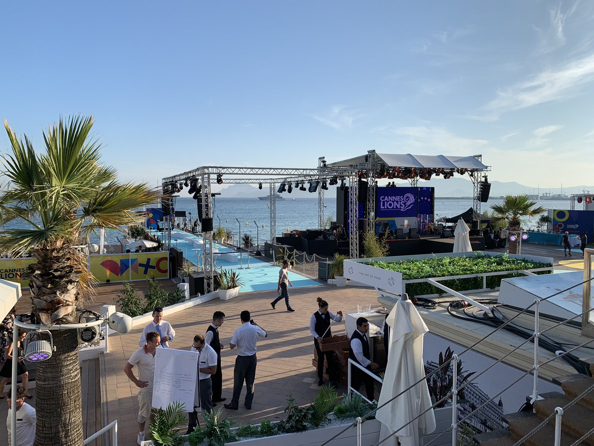The venue for tonight at @Cannes_Lions Life is good❤️ LoveLoveLove you all. Near and far😘
