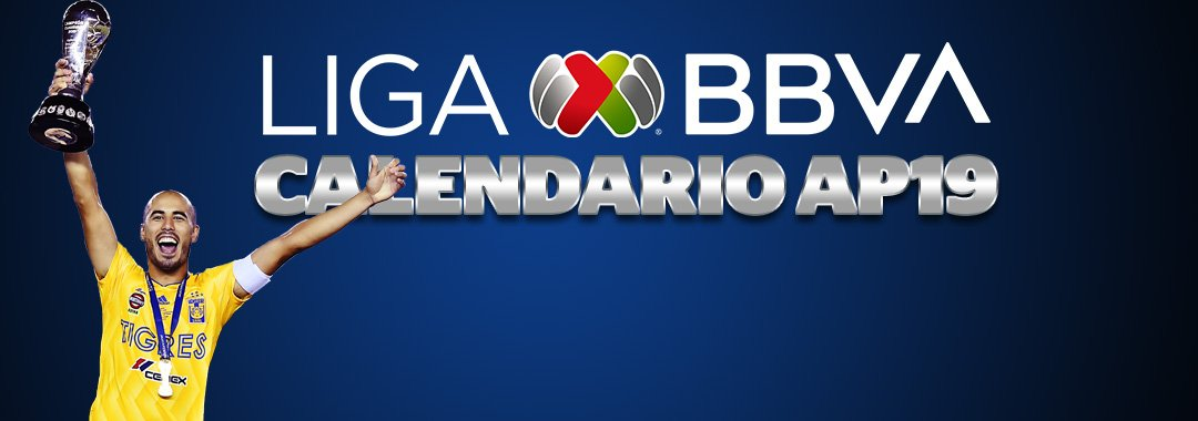 ¡LO QUE TODOS ESPERABAN! 😁😎Ya llegó el Calendario del #AP19 de la #LigaBBVAMX . 🔥Conócelo AQUÍ 👉http://www.ligamx.net/cancha/detallenoticia/30557…⚽️#SienteTuLiga ⚽️