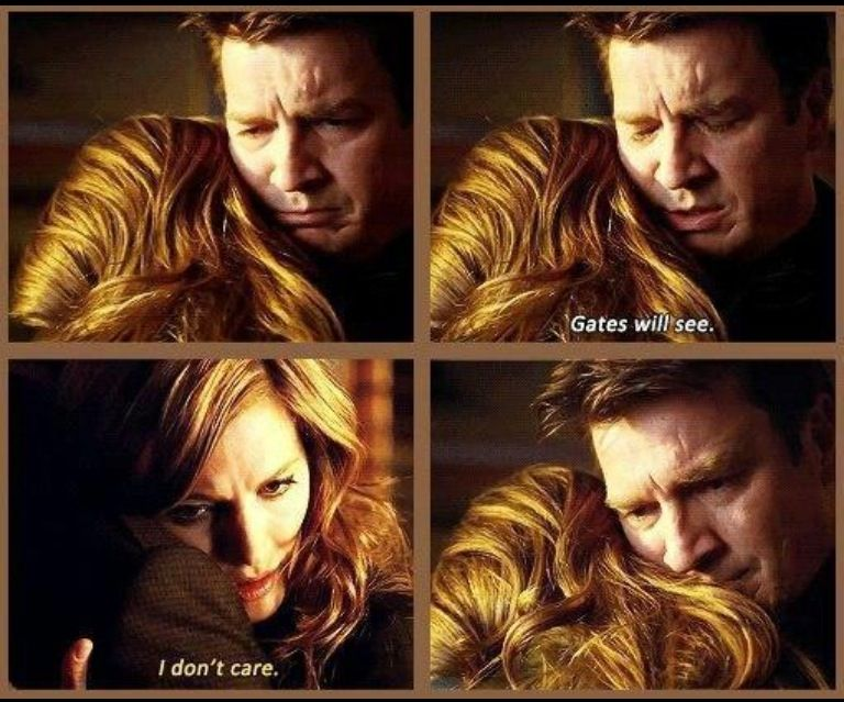 """""""Gates will see"""" """"I don't care""""   Such a significant but underrated Caskett moment  #Castle #FBF <br>http://pic.twitter.com/99vEAheOBw"""